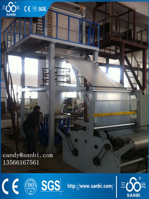 China 50MM 11KW LDPE / HDPE Film Blowing Machine With Double Winder supplier