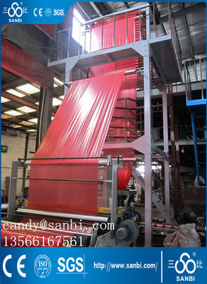 China 800mm PE Film Blowing Machine Double Winder For Packing Some Bottles supplier