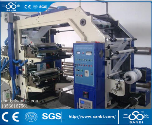 China 4 Color Multicolor Printing Machine To Printed Plastic Film Paper Foil Opp Goods supplier