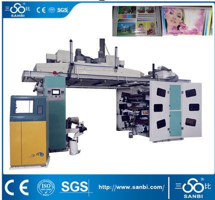China Bopp Pvc Pe Pet  Cpp Paper  Flexo Printing Machine 120-150M/MIN supplier