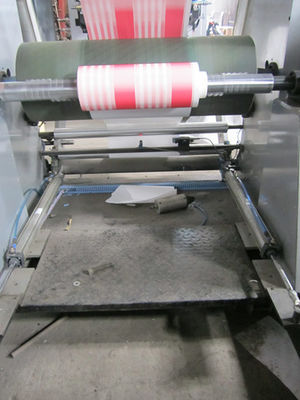 China Hydraulic 4 Color Sticker / Paper Bag Printing Machine With Unwinder Rewinder supplier