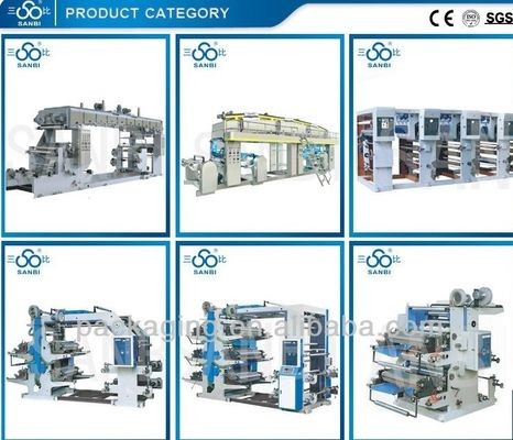 China Label Flexo Printing press Multicolor Flexographic Printer With CE ISO9001 supplier