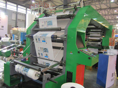 China Auto Stretch Film Flexographic Printing Machine With Double Face Closed Type Doctor Blades supplier