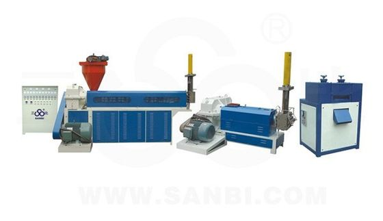 China PP PVC Waste Plastic film Recycling Machine Automatic two screw Extruder supplier