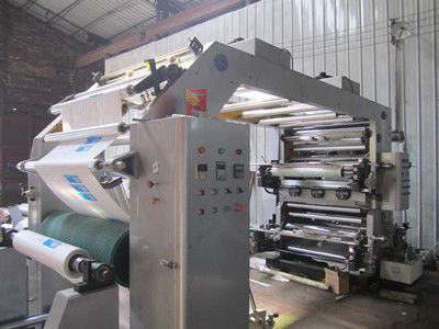China 15Kw Multicolor Poly Bag Printing Machine With 8pcs Anilox Roller supplier