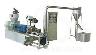 China Hot Cutting PP / PE Plastic Recycling Machine Air Cooled plastic granulator machine supplier