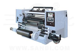 China PLC 15kw PE / PVC Slitting Rewinding Machine With slip force adjustable supplier