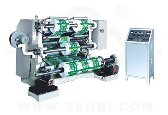 China Plastic Film Roll slitter rewinder machine , paper label cutter machine supplier