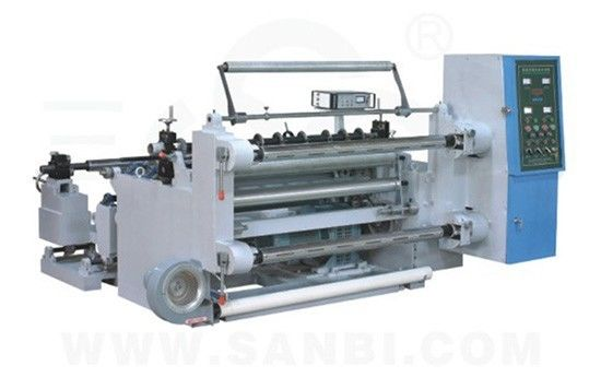 China 2.7Kw Auto Slitting Rewinding Machine , film cutting machine 5-180m/min supplier