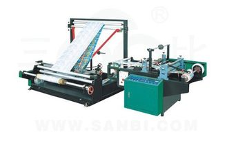 China Automatic Plastic Auxiliary Equipment Single Layer Stretch Film folding rewinding machine supplier