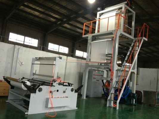 China Auto PE Film Blowing Machine with Double Winder , Plastic Blowing Machinery supplier