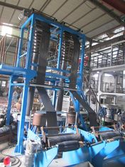 China 700mm Width LPE Film Blowing Machine Double Head Plastic Blowing Machinery supplier
