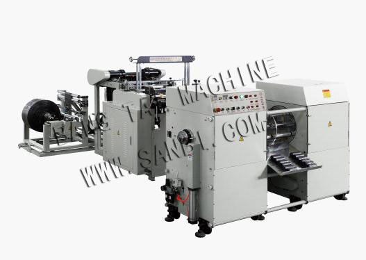 Full Automatic Coreless Rolling Plastic Bag Making Machine For Garbage Bag