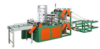 China Eight Lines Cold Cutting Plastic Bag Making Machine Computer control supplier