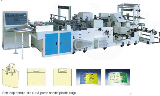 China Full Automatic Plastic bag making machine for Soft loop Handle bag supplier