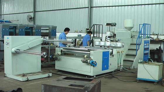 China Two Layers PP PE Film Blow Molding Equipment , plastic film making machine supplier