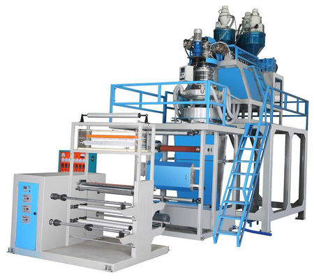 China Double Layer PP Film Blowing Machine Plastic Blow Molding Equipment supplier