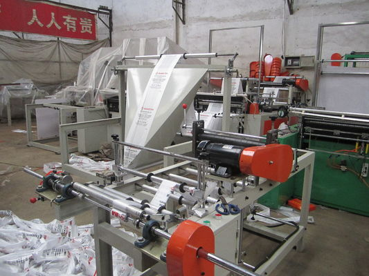 China PLC T Shirt Polythene bag making machine Single line With Servo motor supplier