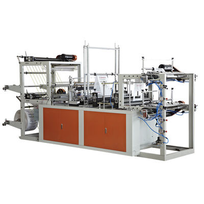 China 1.5Kw Vest Rolling PP Bag Making Machine For Three Side Sealing Bag supplier