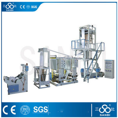 China Fixed / Rotary PE Film Blowing Machine With 2 Color Flexo / Gravure Printing supplier