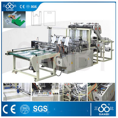 China High Speed Plastic Bag Making Machine Six Lines Cold Cutting supplier