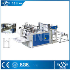 China Two Lines Hot Sealing T-shirt Bag Making Machine With Unwinding Machine supplier