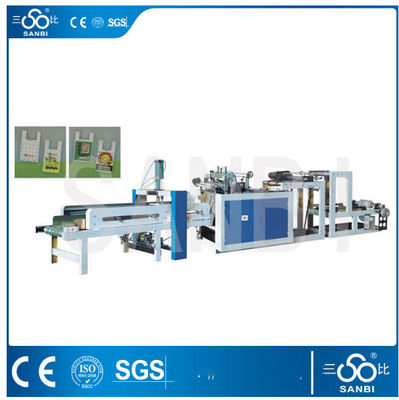 China Single Line Nylon Bag Making Machine / Equipment PLC Control For Vest Carrier Bags supplier