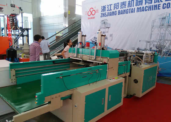 China New Condition High Speed Double Lines Plastic T-shirt Bag Making Machine supplier