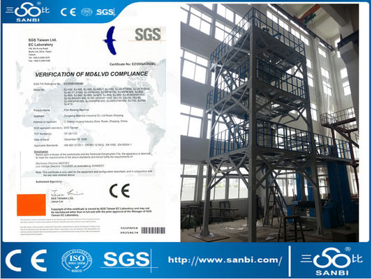 China Three Layer Plastic Multilayer Blown Film Extrusion Co-extrusion supplier