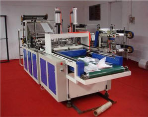 China Cold Cutting T-shirt Bag Making Machine Double Deck Heat Sealing supplier