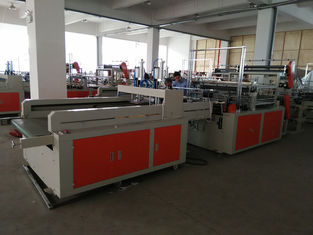 China Heat Sealing Plastic Shopping Bag Making Machine Double Lines supplier