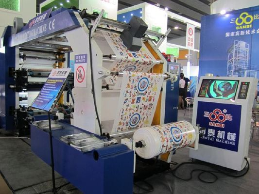 China Rolling Paper Flexo Printing Machine By Auto Tension Control supplier