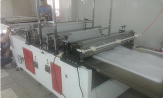 China Hot Sealing Cold Cutting Bag Making Machine With Double Servo Motor supplier