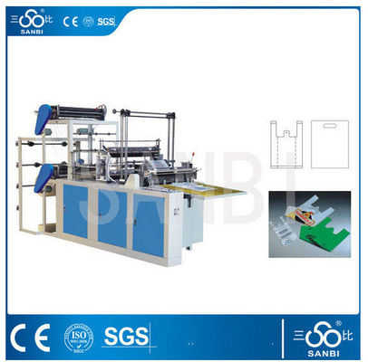 China Double Lines Plastic Bag Making Machine 100pc/min For Convenient Bag supplier