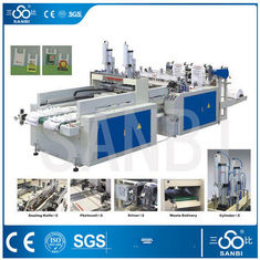 China 9Kw Auto Polythene Bag Manufacturing Machine / Equipment With Two Sealing knifes supplier