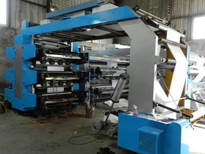 Computerized Flexographic Printing Machine For Plastic Film / Bag 60m/min