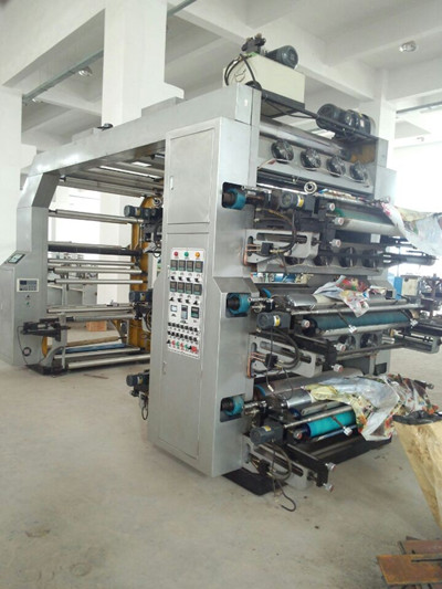 Automatic 6 Color Flexographic Printing Machine With Hydraulic Roller