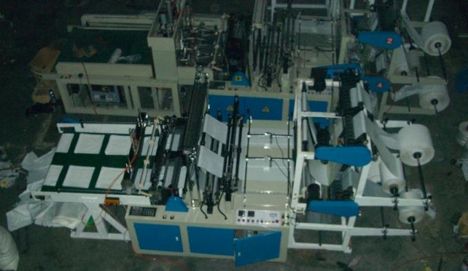 High Speed four lines cold cutting bag making machine With SGS