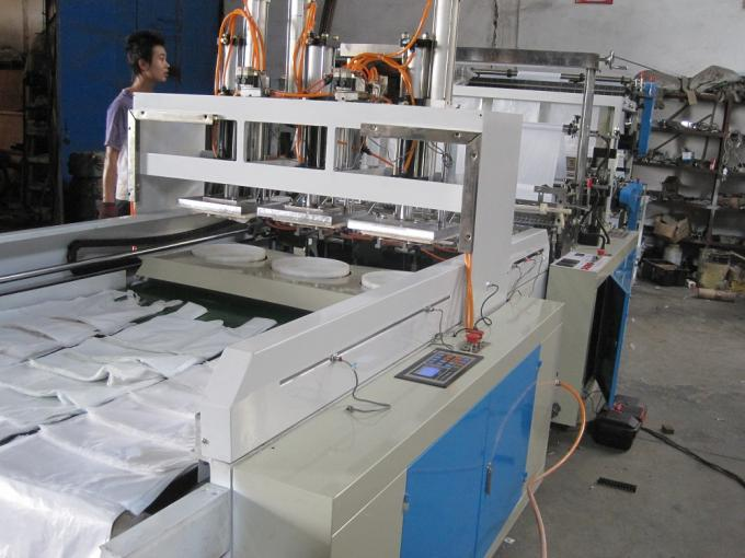 Six Lines Polythene T-shirt Bag Making Machine High Speed Plastic Bag Maker