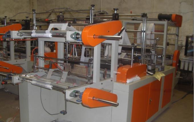 1.5Kw Vest Rolling PP Bag Making Machine For Three Side Sealing Bag