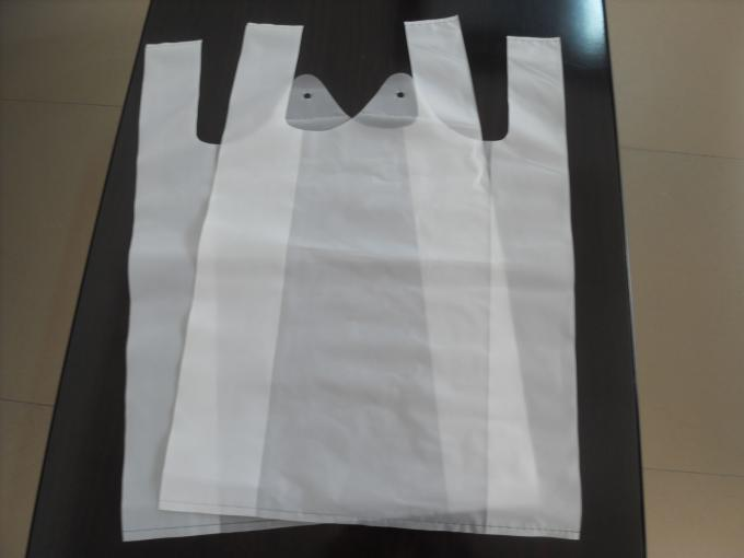 Full Production Recycled PE Plastic T-Shirt Shopping Bag Make Machine Lines