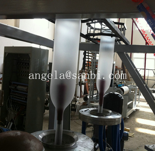 Plastic Double Head Film Blowing Machine Used For plastic bags,Double Lines Film Blowing Machine