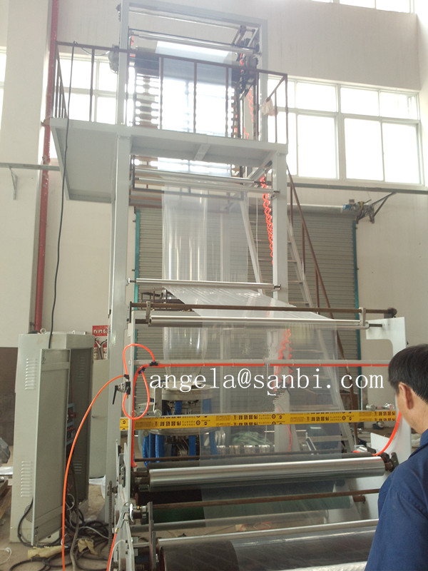 380V High - Low Pressure PE Film Blowing Machine , Rotary Die  Blow Molding Machine,Rotary Film Blowing Machine