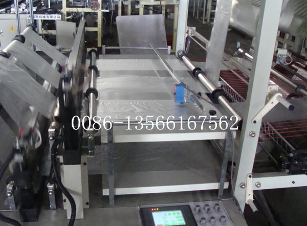 High Speed Plastic Bag Making Machine Six Lines Cold Cutting Computer Control