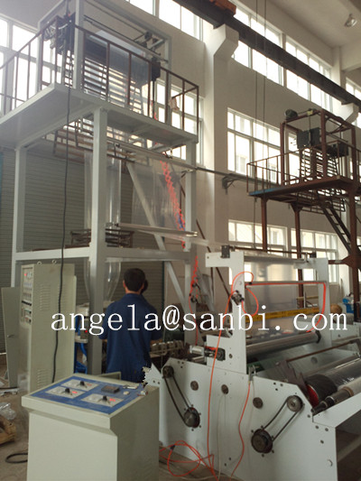 Double Winder Blowning Film Extrusion Machine / extrusion blowing machine