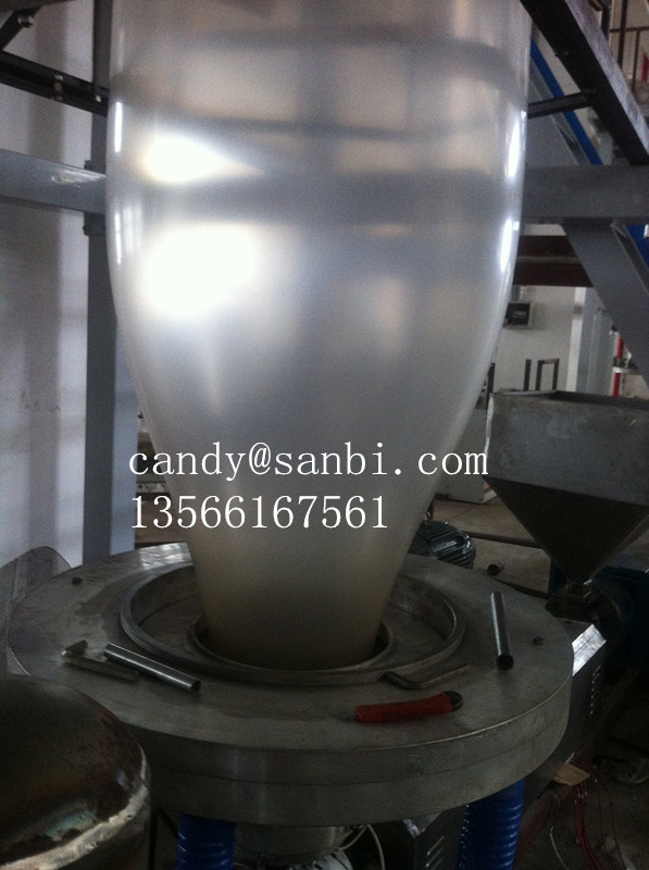 50MM 11KW LDPE / HDPE Film Blowing Machine With Double Winder