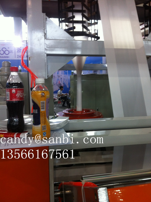 ABA Blown Film Extrusion Plastic Film Blowing Machine 100kg / H