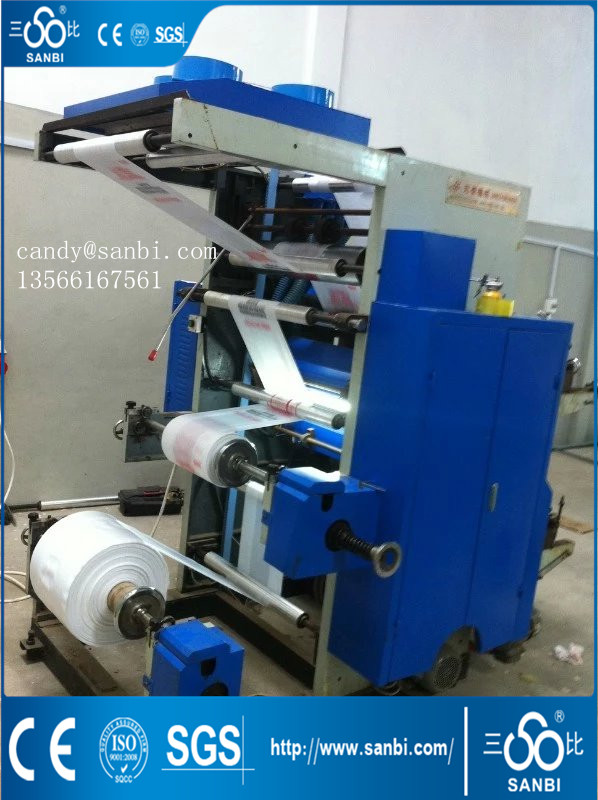 2 Color 600 / 800 / 1000 Mm Flexographic Printing Machine 50m/Min