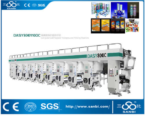 China High Speed Automatic Rotogravure Printing Machine 7 Motor Gravure Printing Machinery distributor