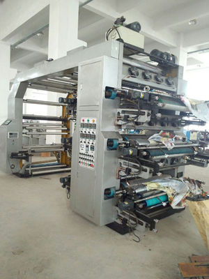 China Automatic 6 Color Flexographic Printing Machine With Hydraulic Roller distributor